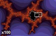 Even Deeper: Mandelbrot set now at 100x magnification